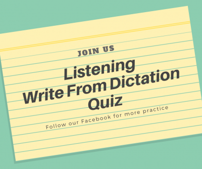 PTE Write From Dictation