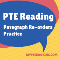 pte reading paragraph reorder