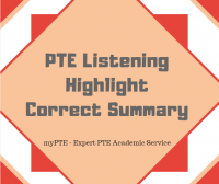 pte highlight correct summary