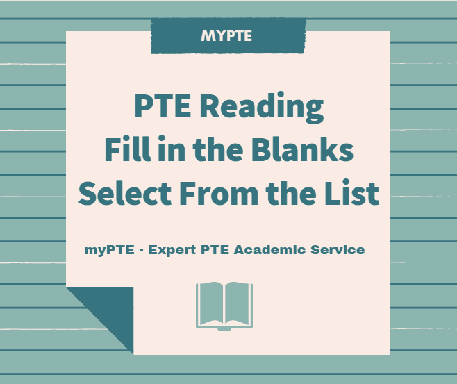 pte fill in the blanks select from the list simple and effective
