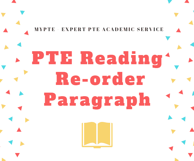 PTE Reading - Re-order paragraphs strategy | Real exam questions