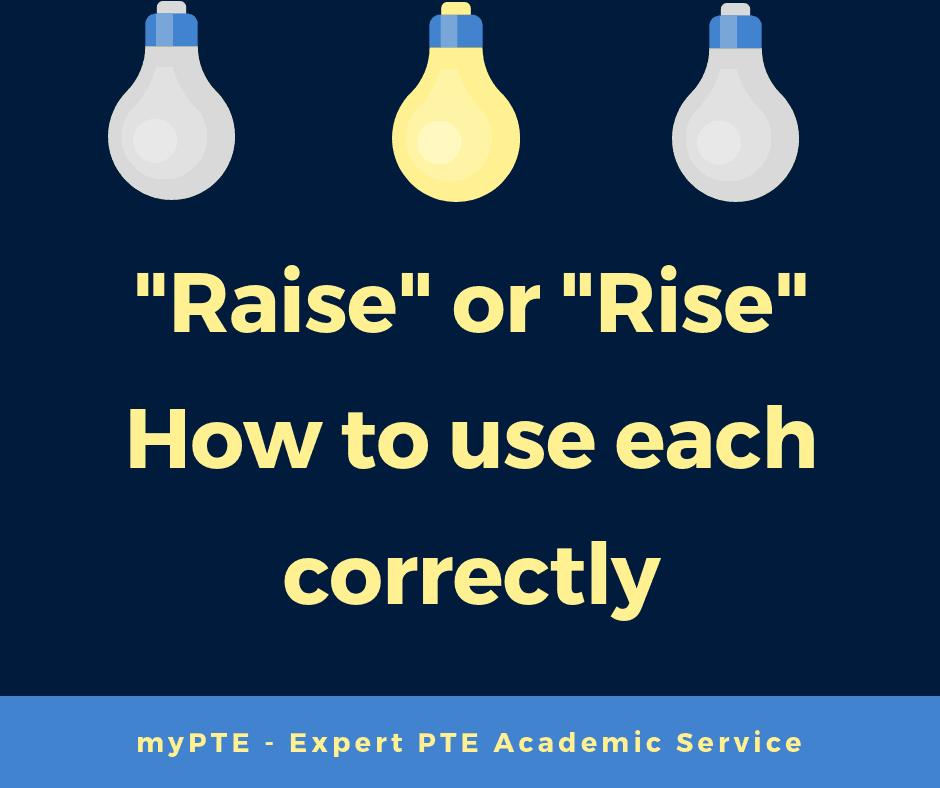 raise or rise